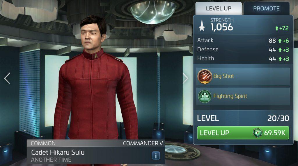 Star Trek Fleet Command Cadet Hikaru Sulu