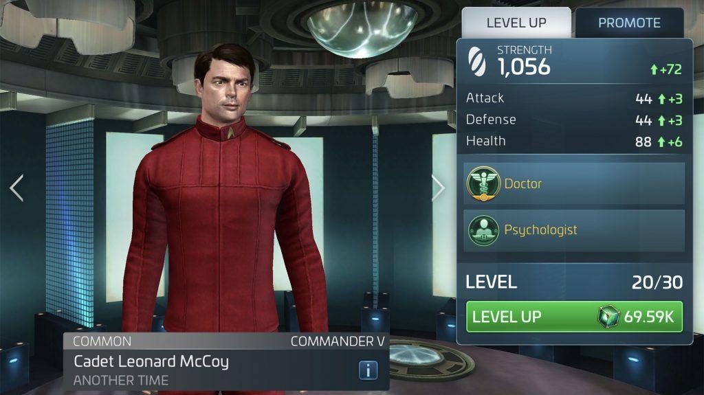 Star Trek Fleet Command Cadet Leonard McCoy