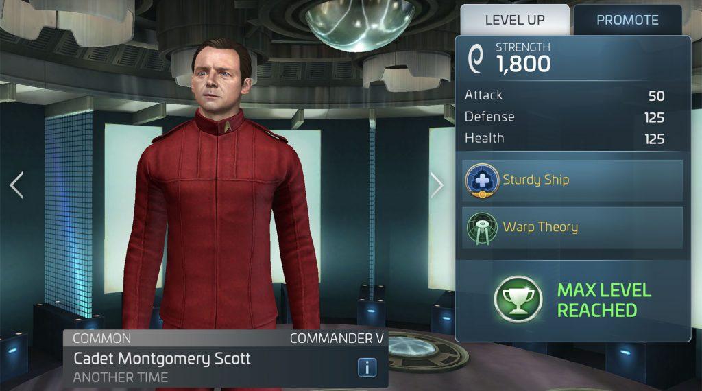 Star Trek Fleet Command Cadet Montgomery Scott