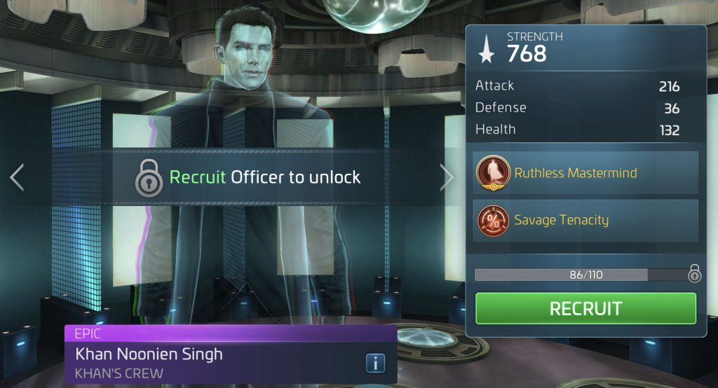 Star Trek Fleet Command Khan Noonien Singh