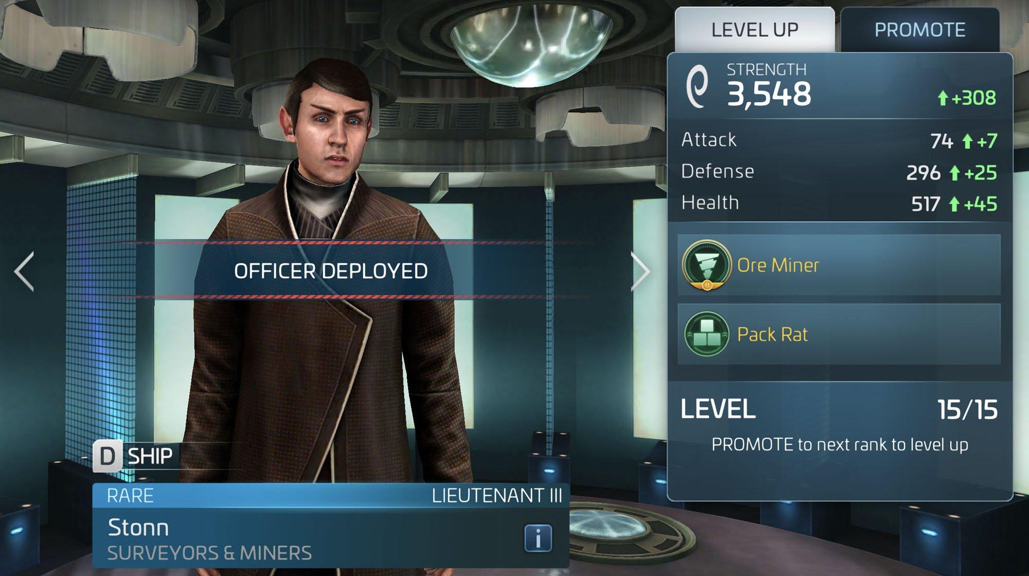 Star Trek Fleet Command Officer Stonn