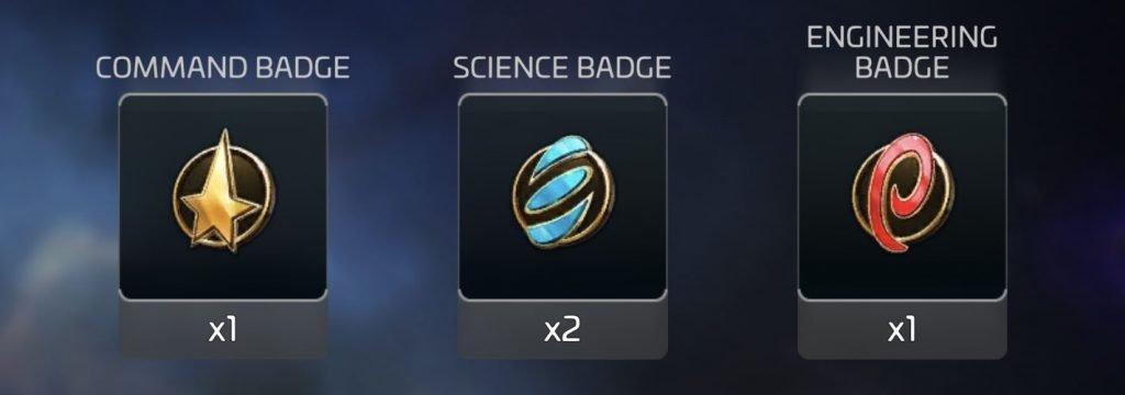 Star Trek Fleet Command Officer Badges