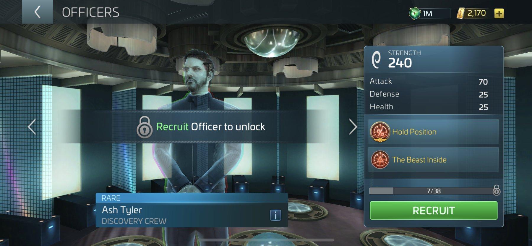Star Trek Fleet Command Officer Ash Tyler