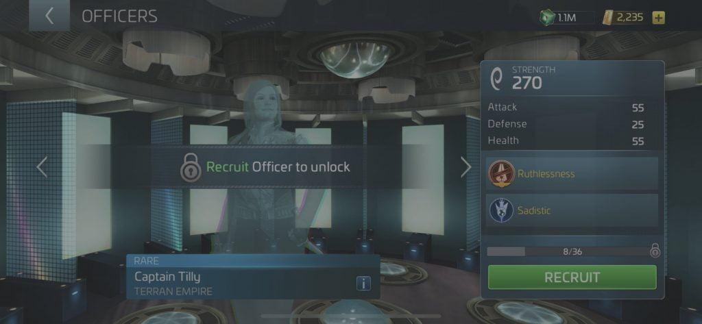 Star Trek Fleet Command Officer Captain Tilly
