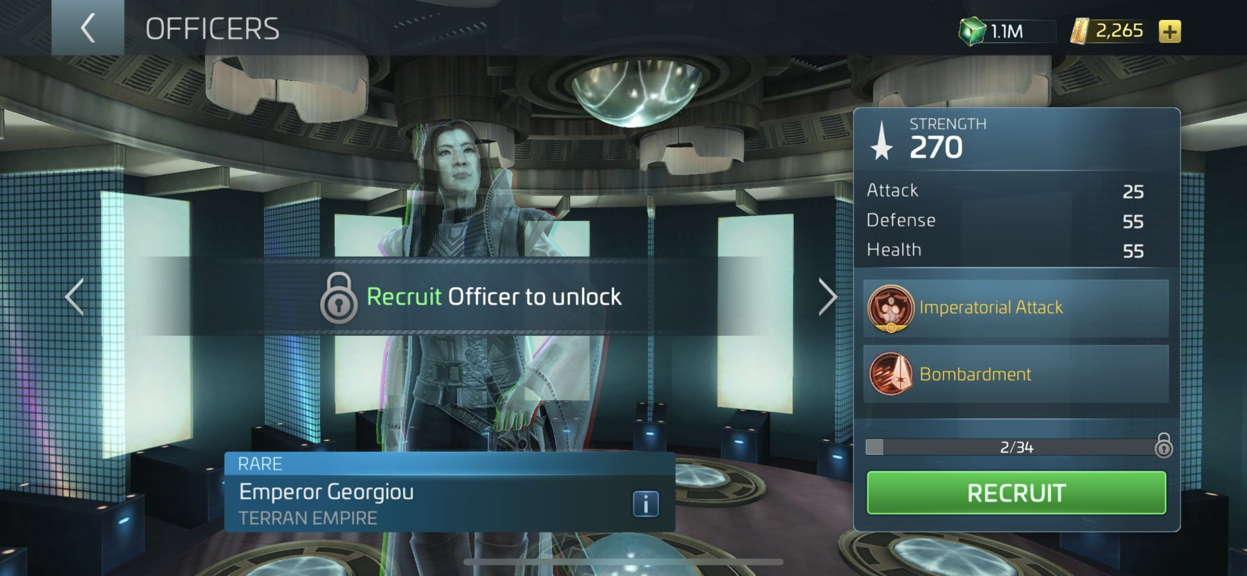 Star Trek Fleet Command Emperor Georgiou