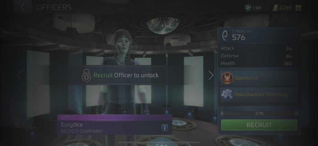 Star Trek Fleet Command Officer Eurydice