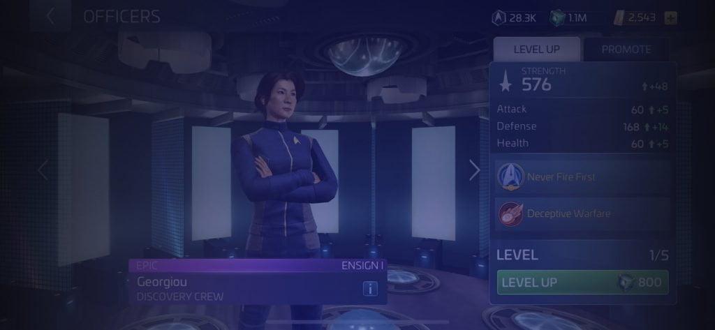 Star Trek Fleet Command Officer Georgiou