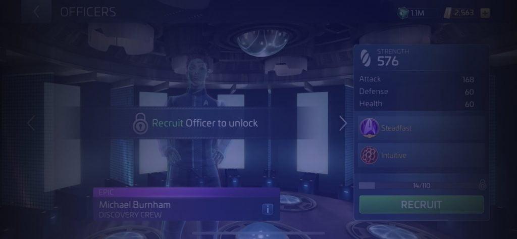 Star Trek Fleet Command Officer Michael Burnham