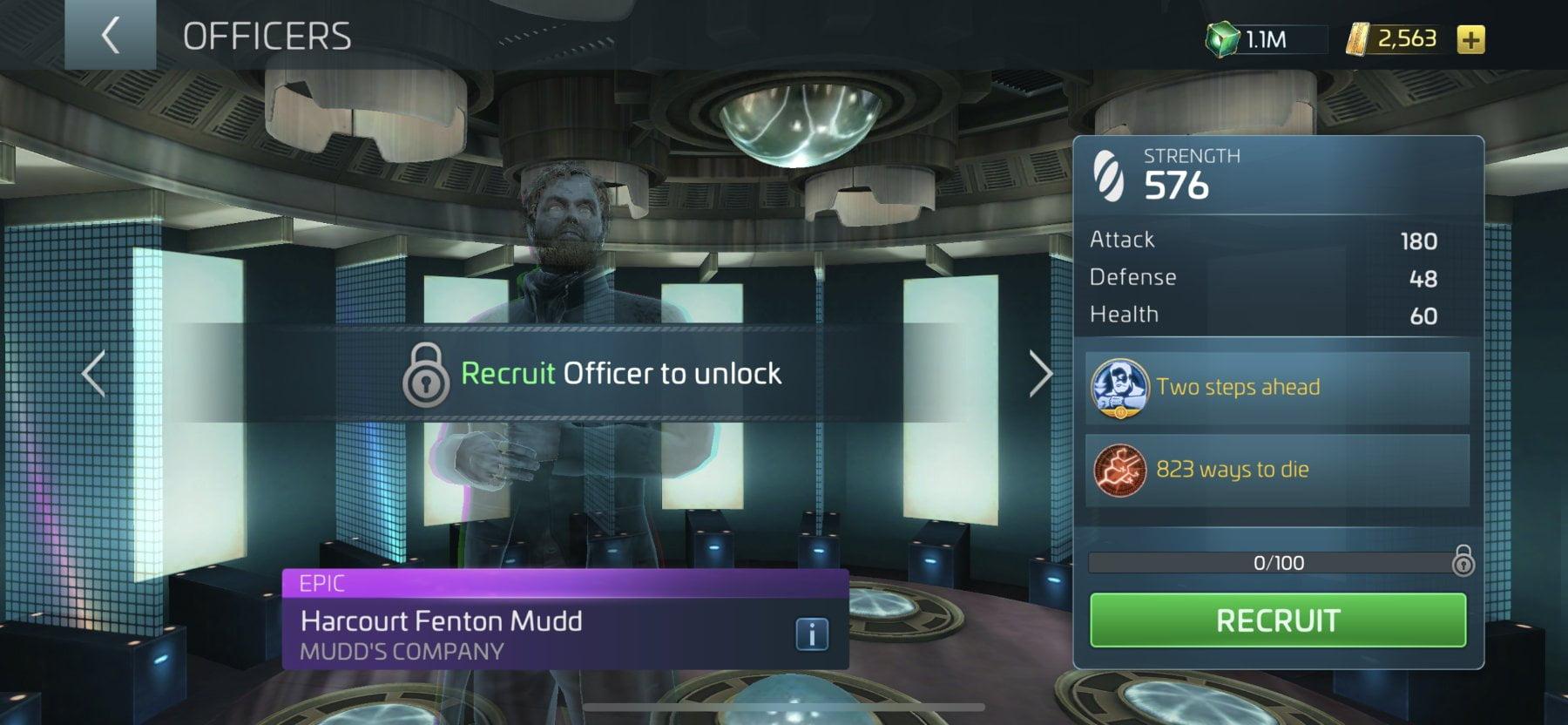 Star Trek Fleet Command Officer Mudd