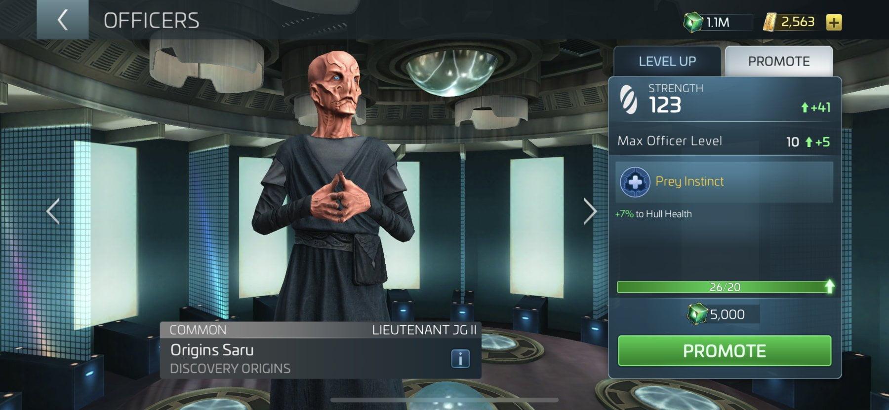 Star Trek Fleet Command Officer Origins Saru