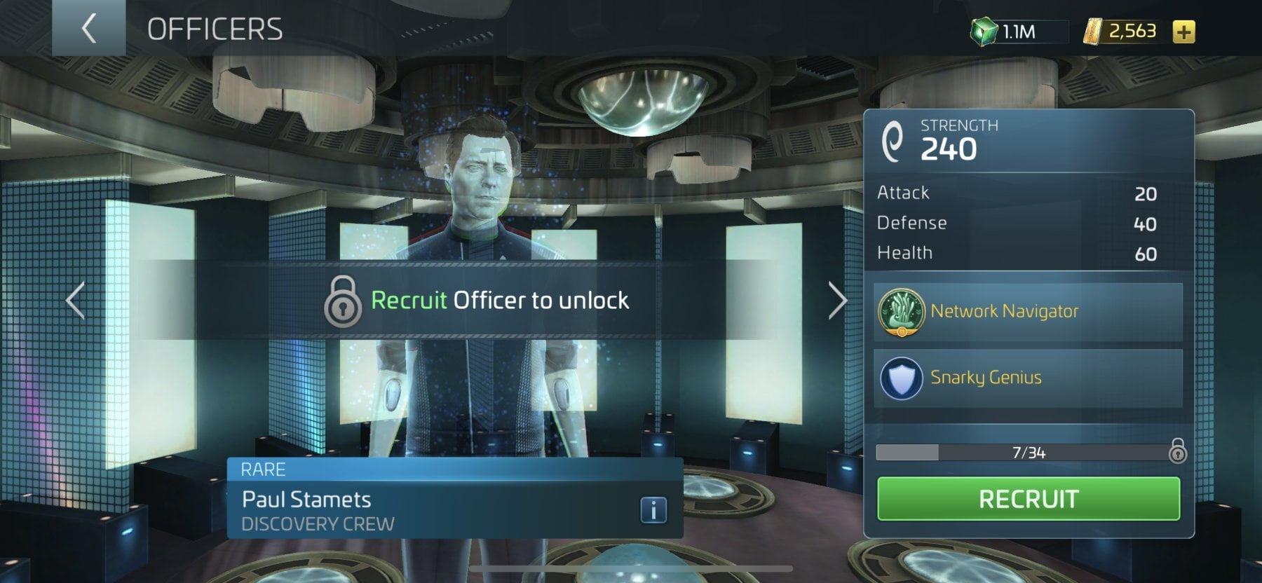 Star Trek Fleet Command Officer Paul Stamets