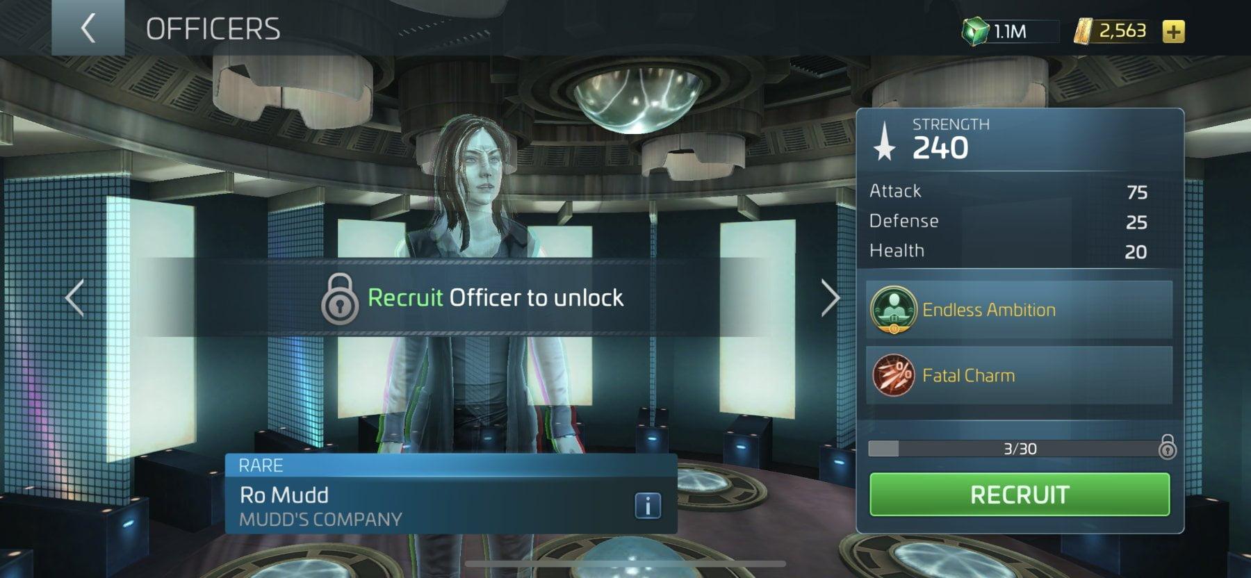 Star Trek Fleet Command Officer Ro Mudd