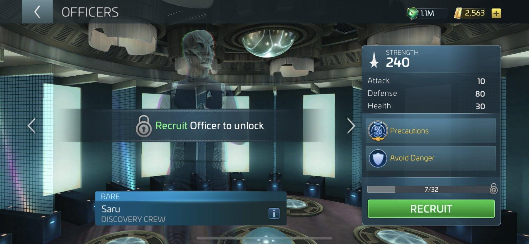 Star Trek Fleet Command Officer Saru