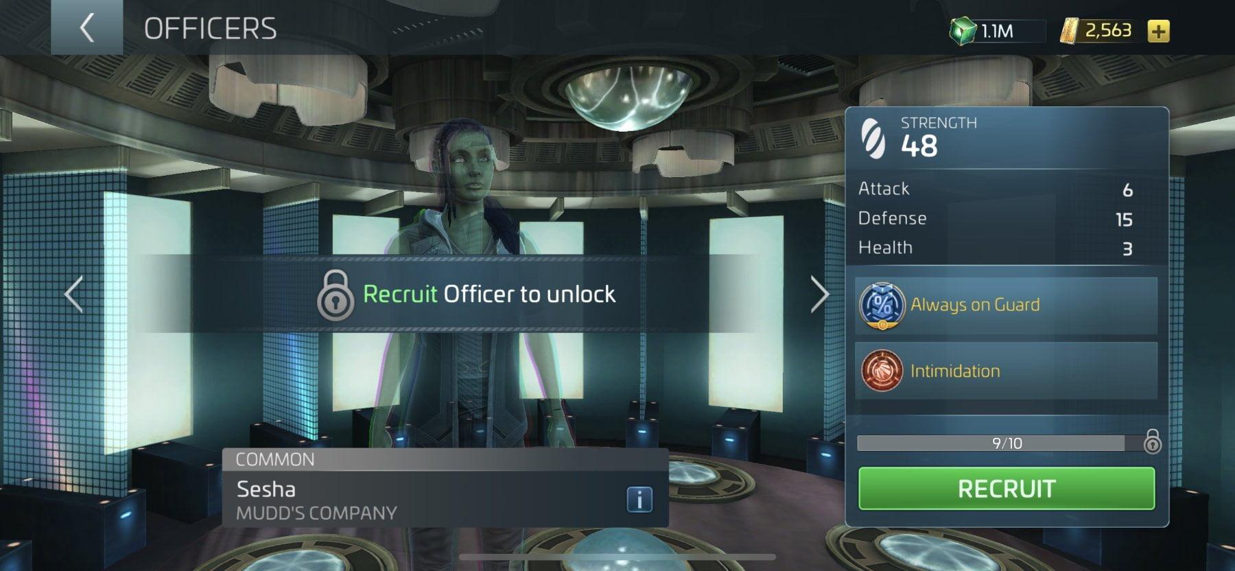 Star Trek Fleet Command Officer Sesha