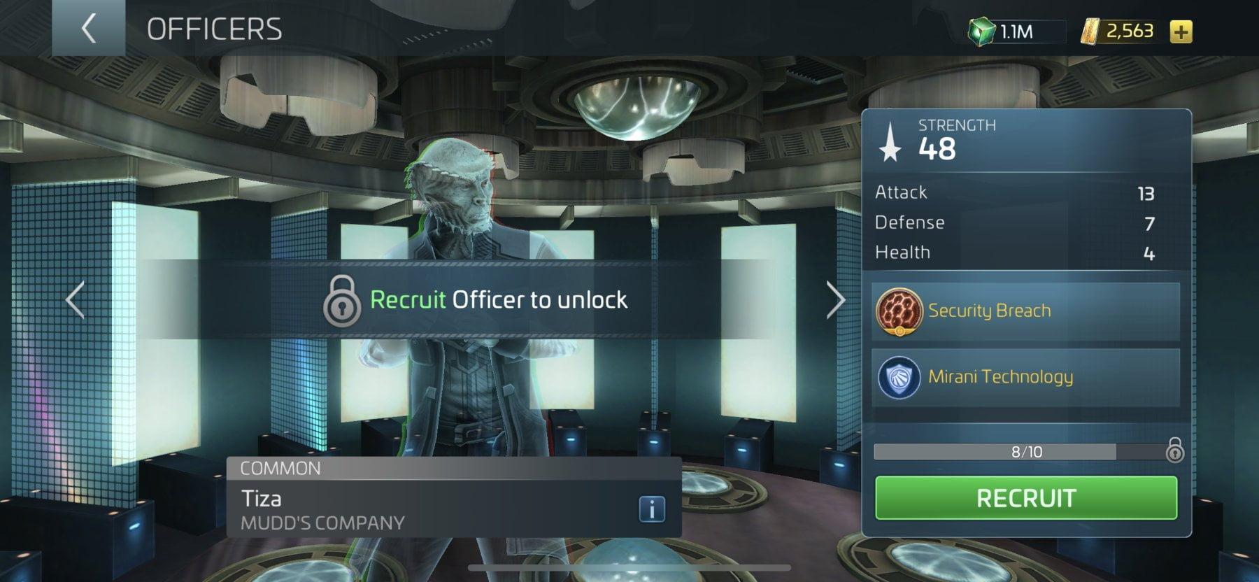 Star Trek Fleet Command Officer Tiza