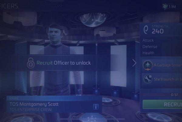 Star Trek Fleet Command Officer TOS Montgomery Scott