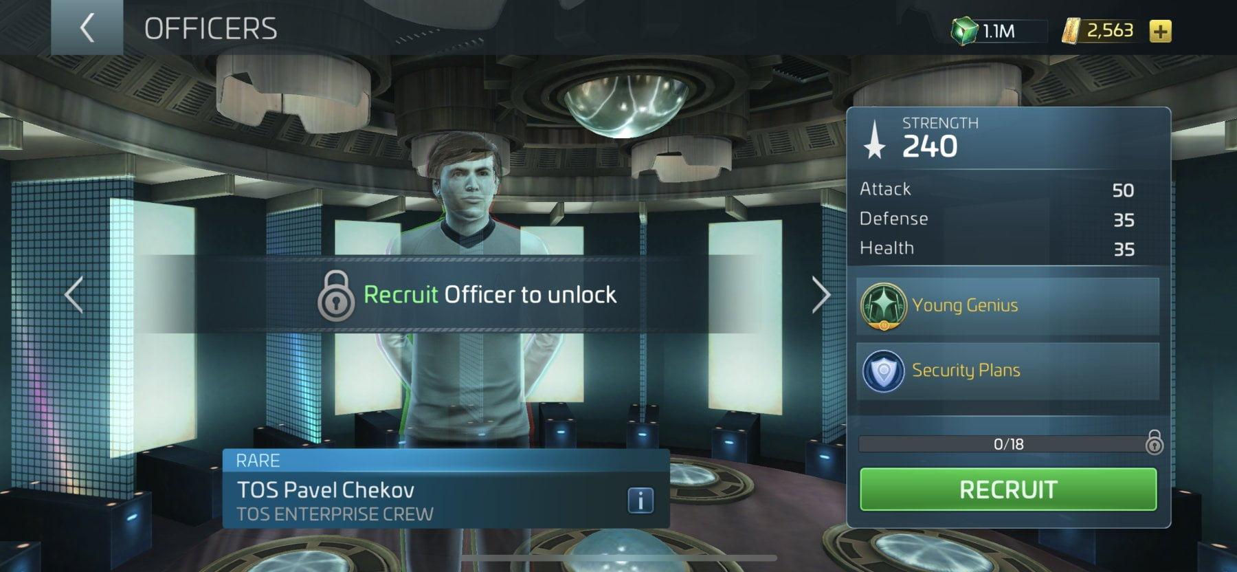 Star Trek Fleet Command Officer TOS Pavel Chekov