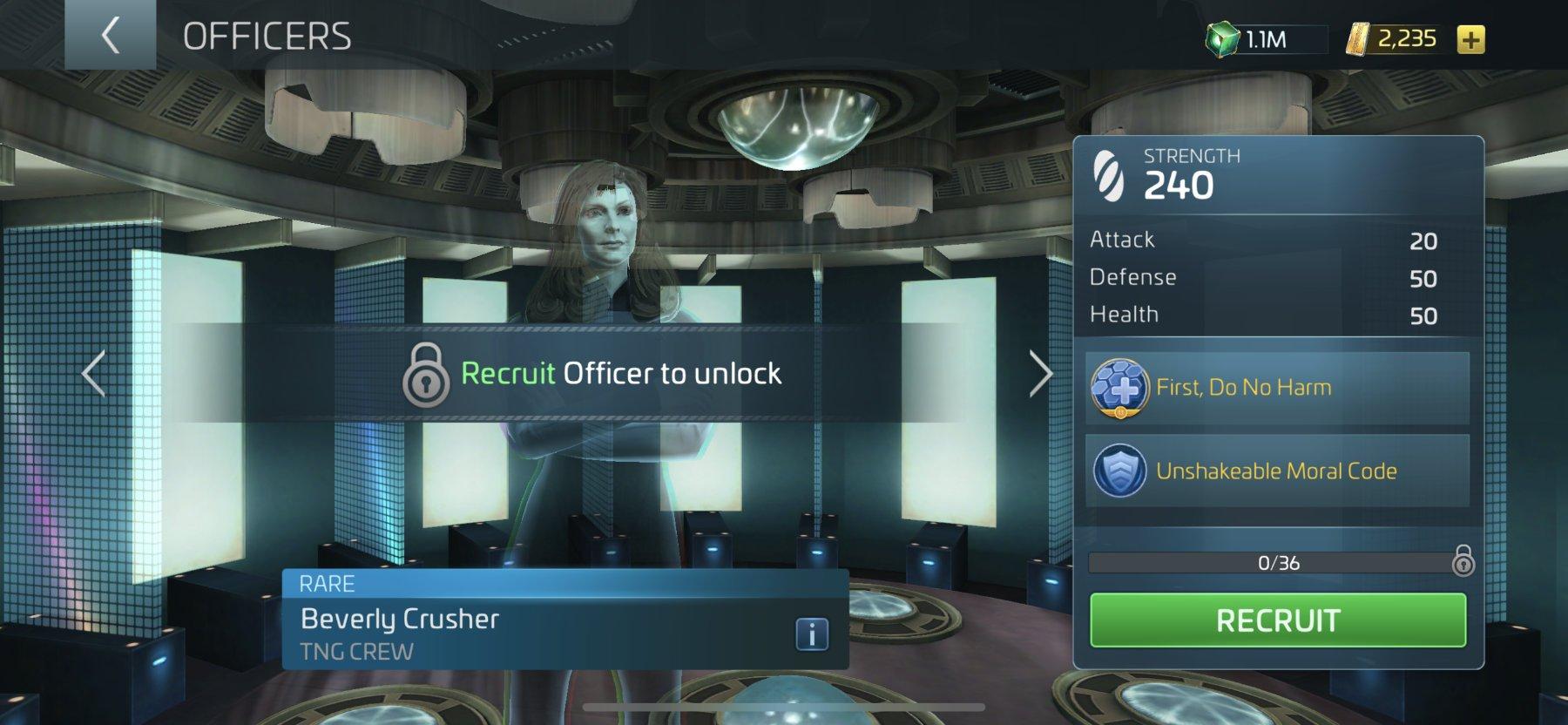 Star Trek Fleet Command Officer Beverly Crusher