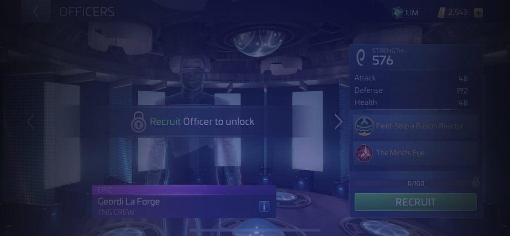 Star Trek Fleet Command Officer Geordi La Forge