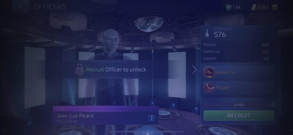 Star Trek Fleet Command Officer Jean-Luc Picard