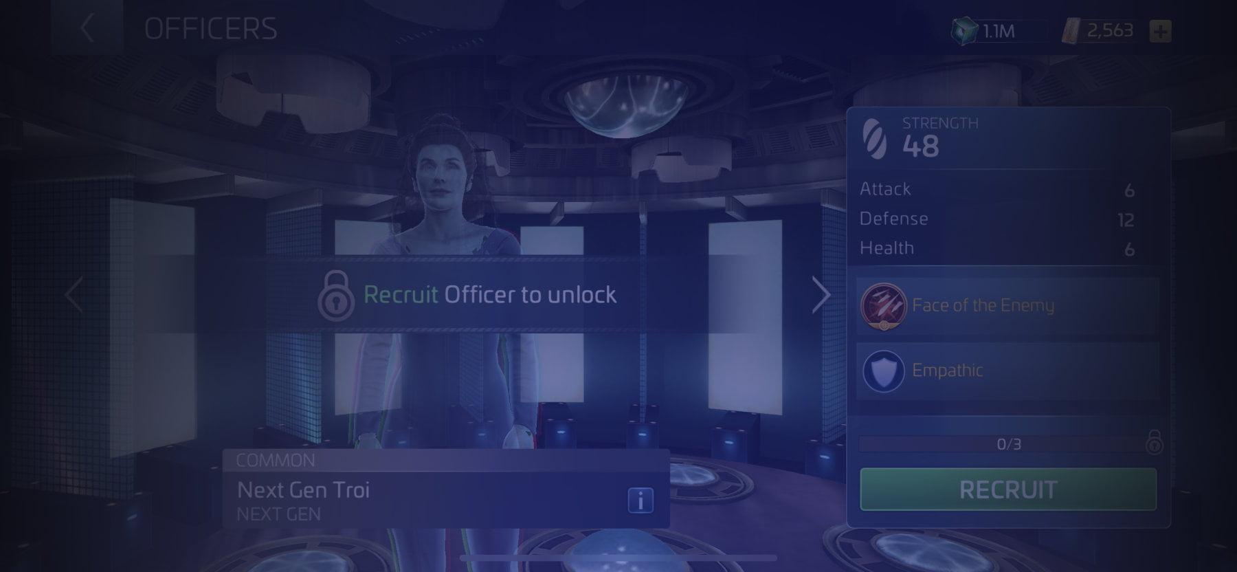 Officer Next Gen Troi