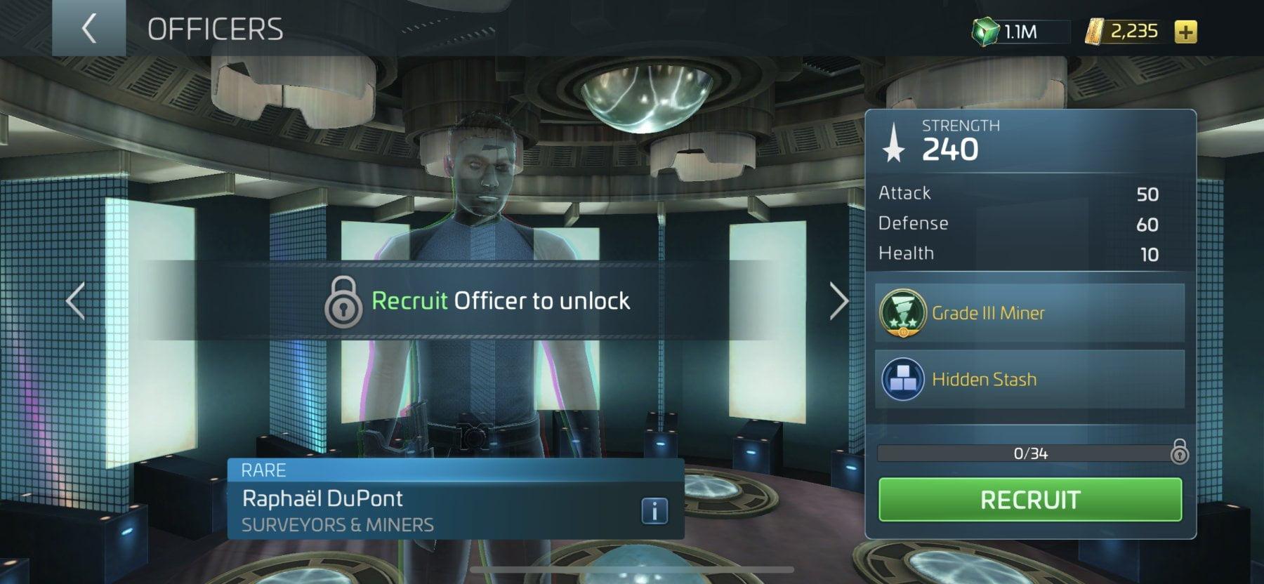 Star Trek Fleet Command Officer Raphaël DuPont