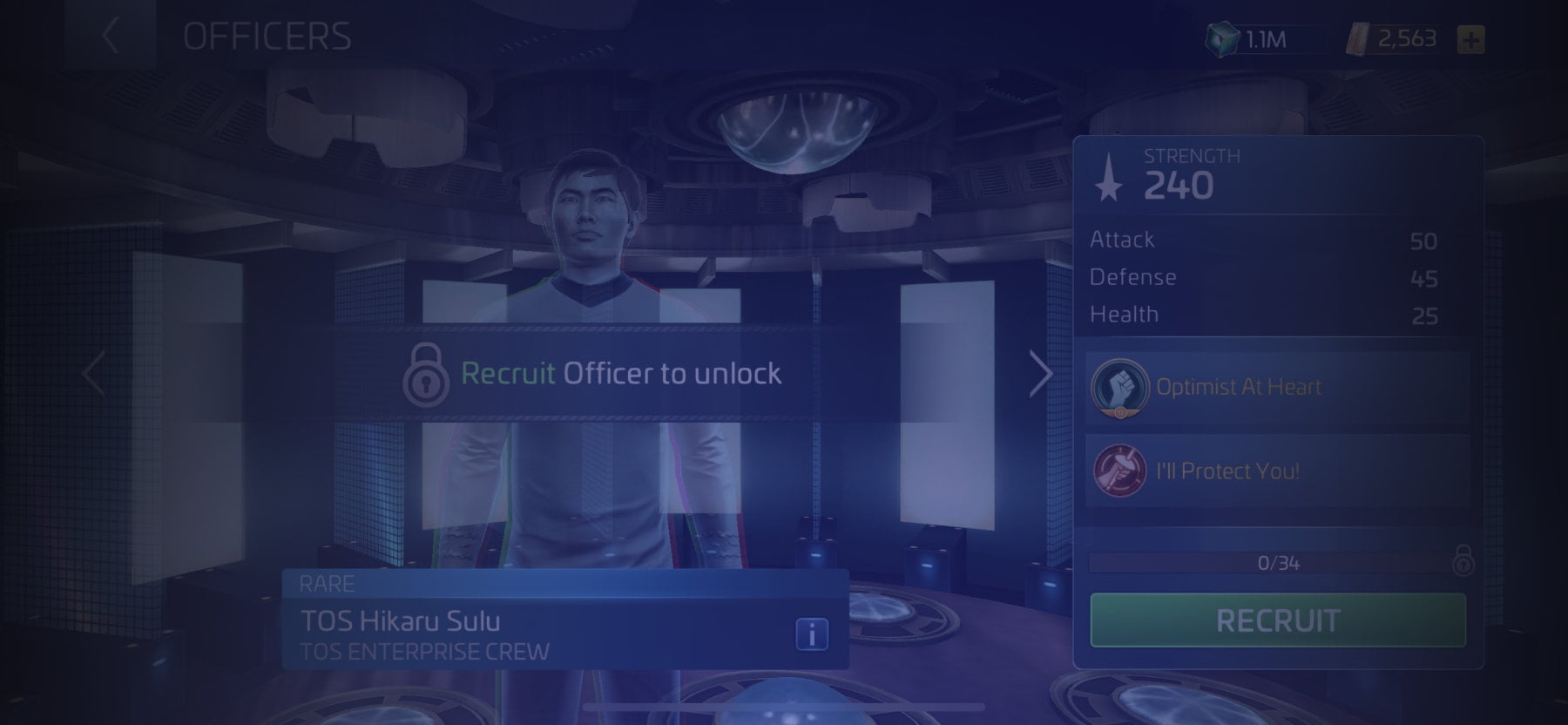 Officer TOS Hikaru Sulu