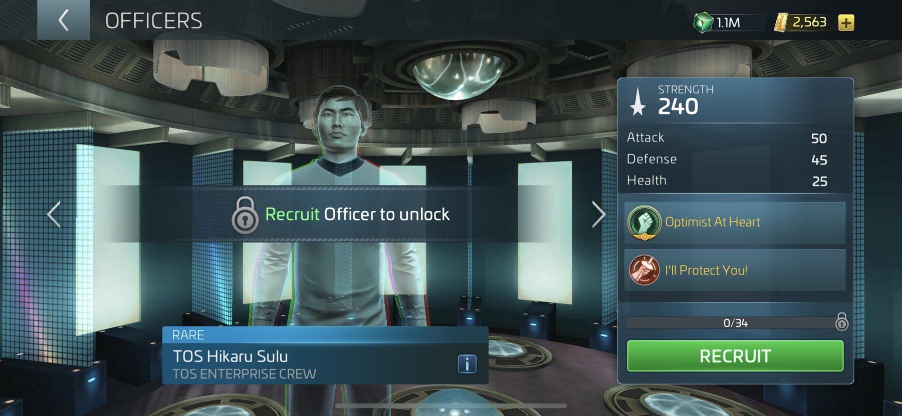 Star Trek Fleet Command Officer TOS Hikaru Sulu