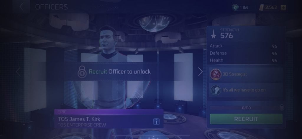 Star Trek Fleet Command Officer TOS James T. Kirk