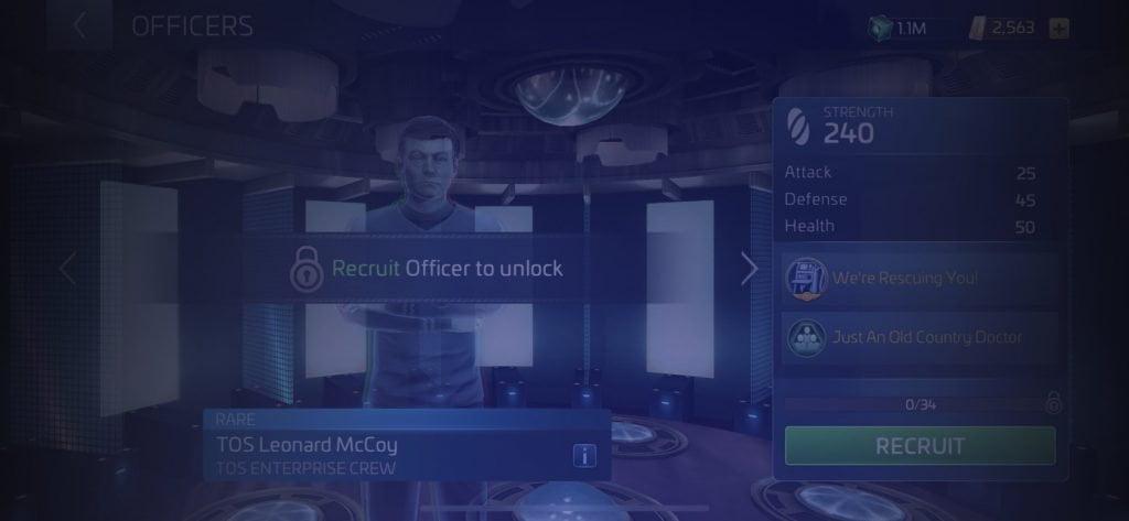 Star Trek Fleet Command Officer TOS Leonard McCoy