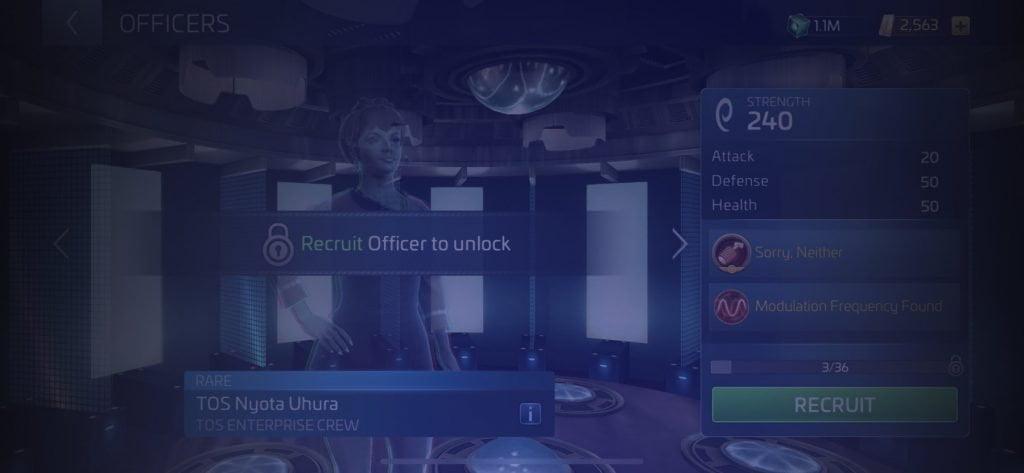 Star Trek Fleet Command Officer TOS Nyota Uhura