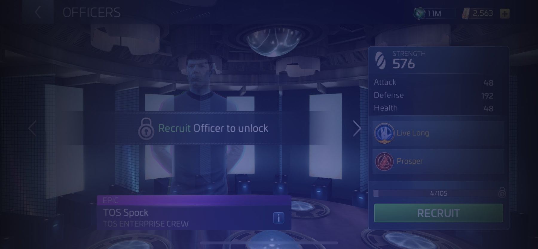 Officer TOS Spock