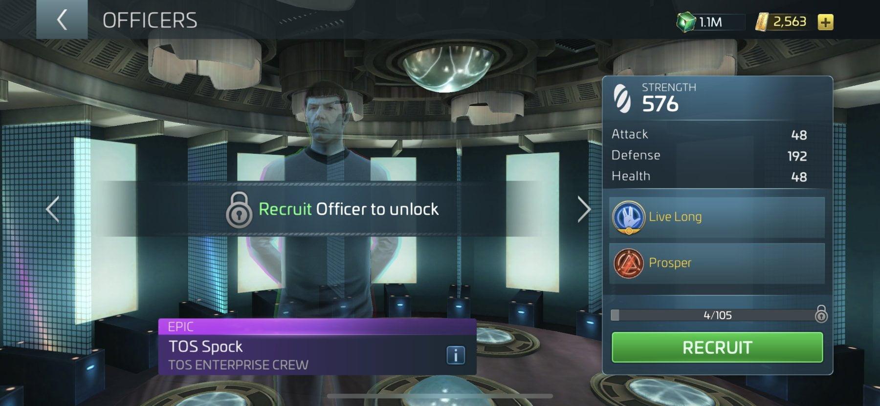 Star Trek Fleet Command Officer TOS Spock