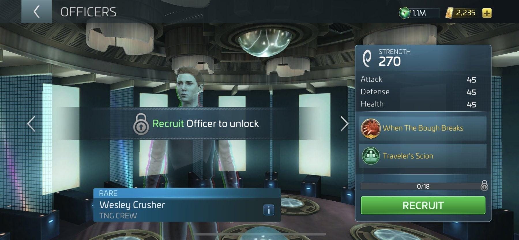Star Trek Fleet Command Officer Wesley Crusher