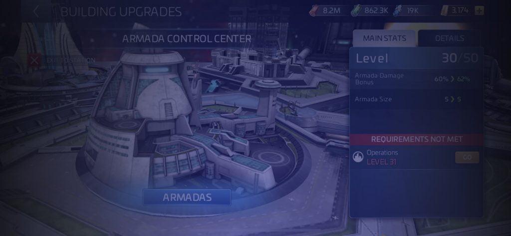 Star Trek Fleet Command Armada Control Center